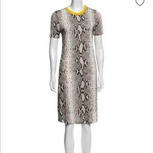 CARVEN dress animal print w yelloow details